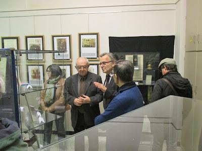 André Fuet et Michel Genet, représentant l'AMOPA (Association des Membres de l'Ordre des Palmes Académiques)