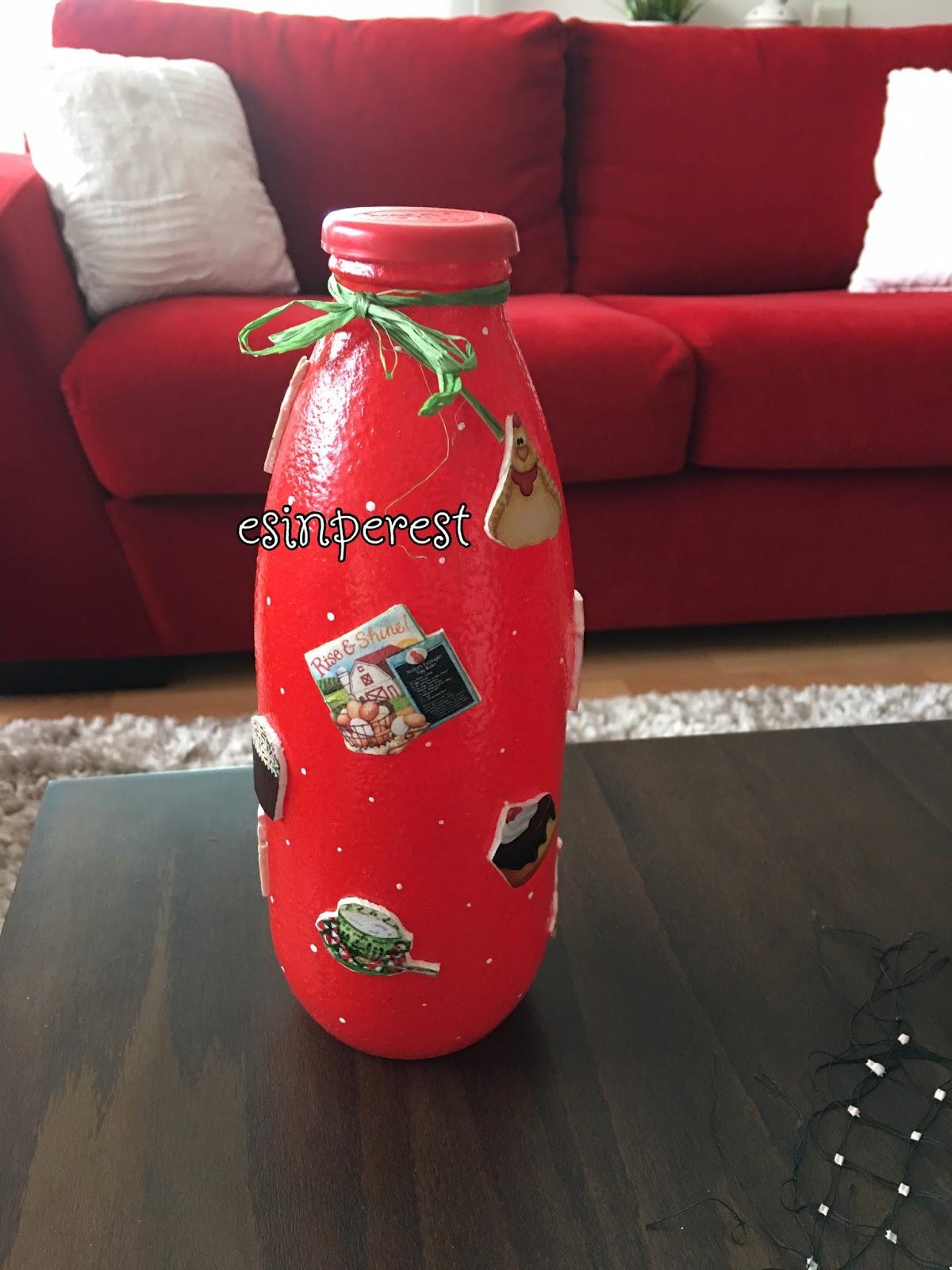 Süt şişesi Boyamaya Devam Esinperest