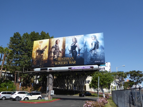 Huntsman Winter's War movie billboard