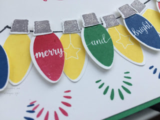 Making Christmas Bright Card, Stampin Up, Christmas Card, Christmas Lights