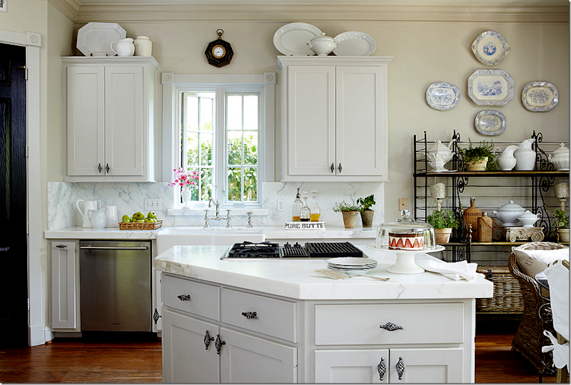 Cottage And Vine: Accessorizing Upper Cabinets