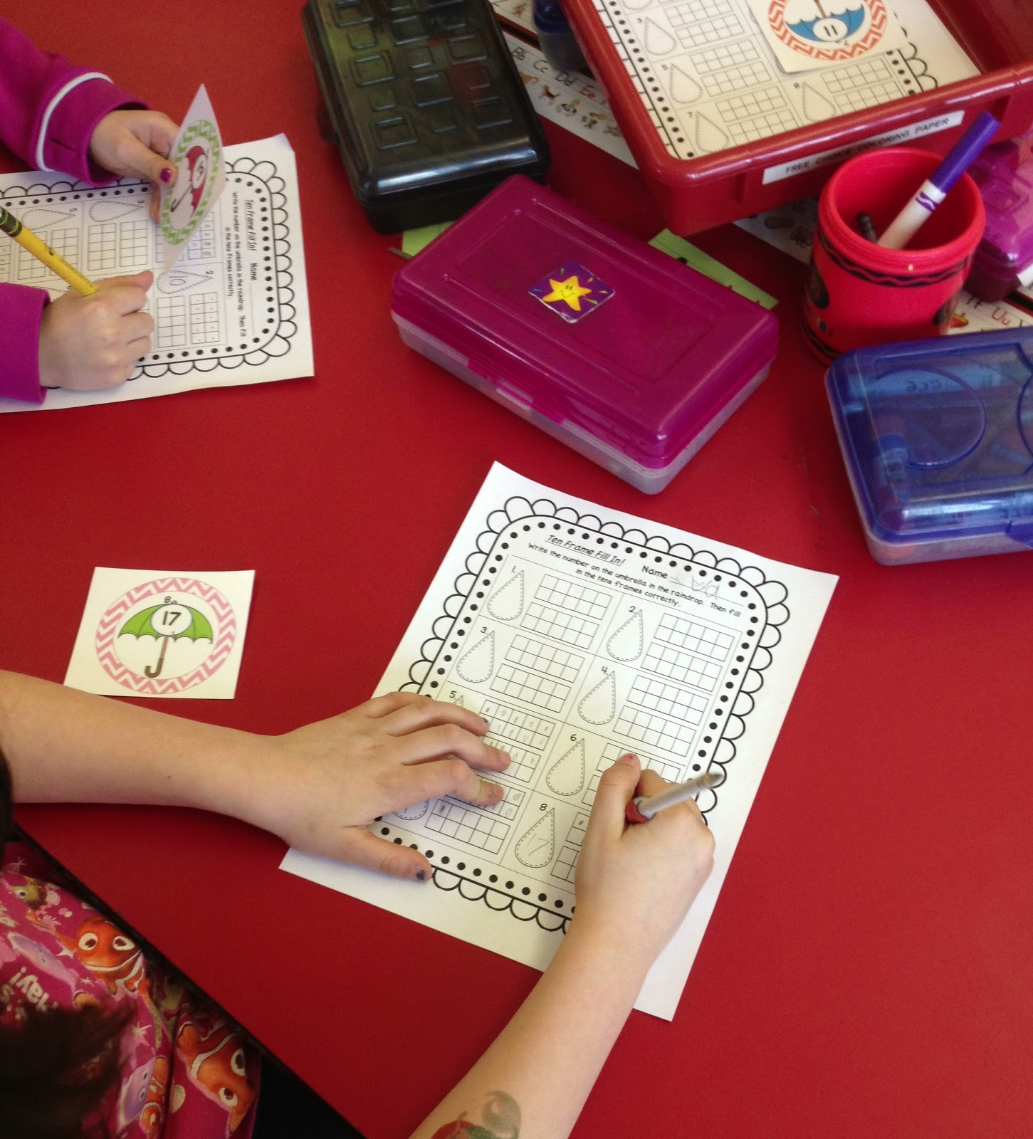 Always An Adventure In Kindergarten April Showers Math