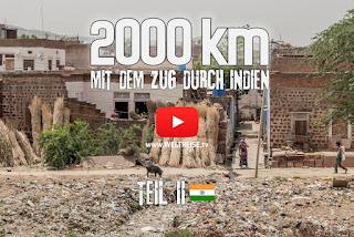 Weltreise mit dem Zug durch Indien krasse Story Kulturschock, Müllprobleme, Müll im Meer
