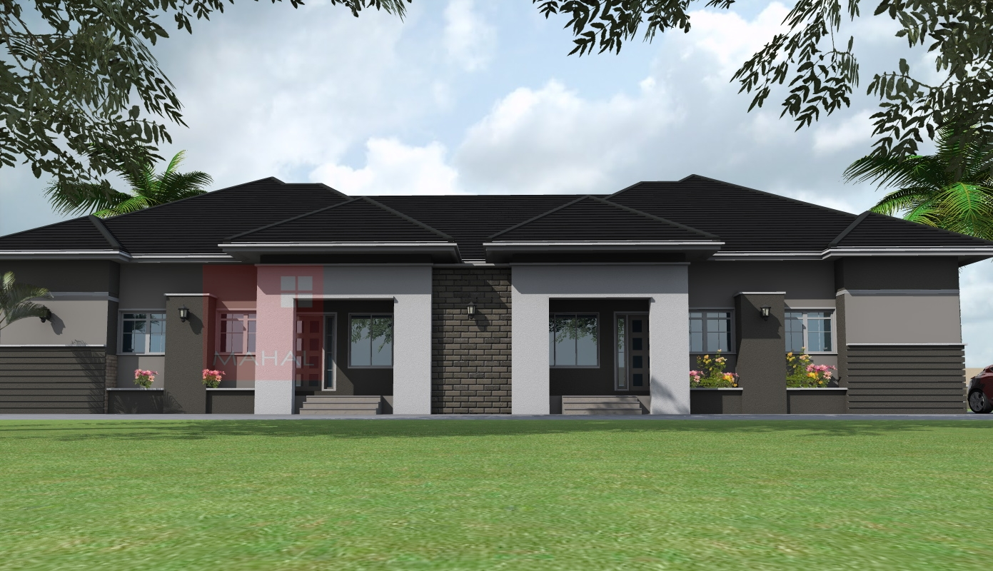 Contemporary nigerian residential architecture 3 bedroom for Mansion plans for sale