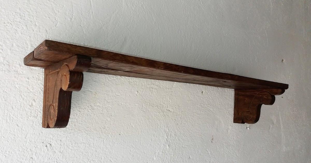 Artesan a r stica en madera gran balda de madera r stica art 123 - Balda de madera ...