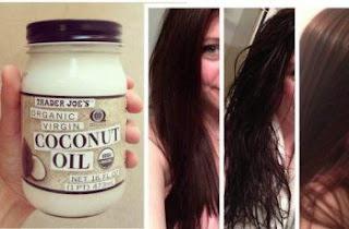 Utilisez de l'huile de coco avant et après
