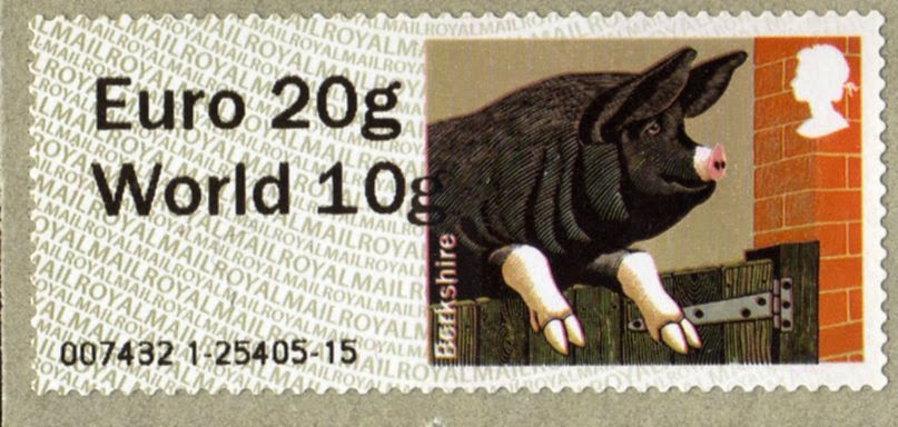 Pigs Faststamp Euro20/World10 from Wincor machine.