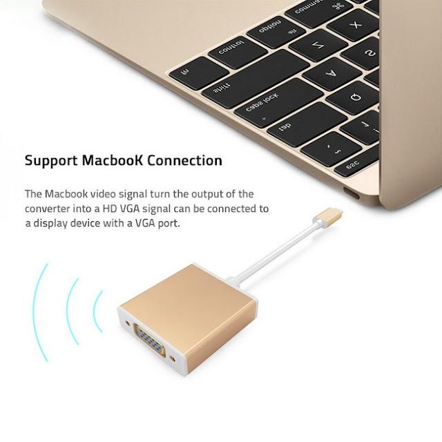 Cáp chuyển USB Type C to VGA giá rẻ
