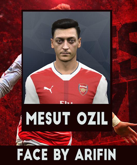 Face Mesut Ozil PES 2016 2017 by Arifin