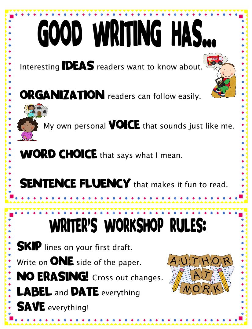 Rules for writing a picture composition for kids