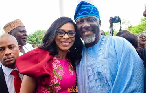 Lovely photos of former BBNaija housemate, TBoss at Sen. Dino Melaye's book launch in Abuja