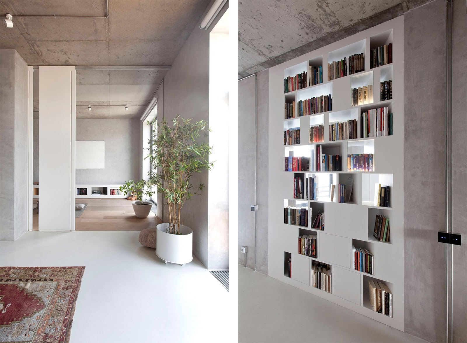 Appartamento a mosca in stile giapponese by m17 studio for Pareti divisorie stile giapponese