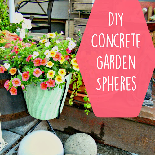 DIY Concrete Garden Spheres - Weekend Yard Work Series