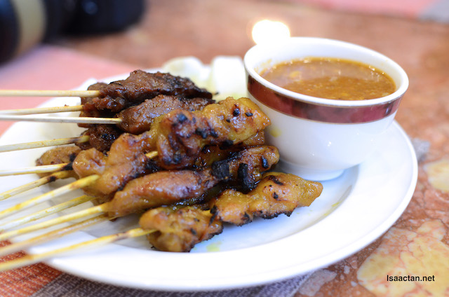 Chicken satay for all!