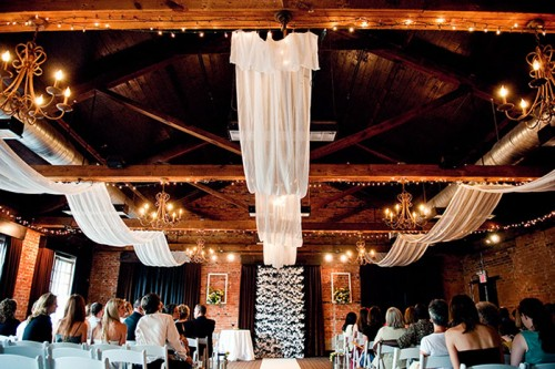 Sophisticated Contemporary Wedding Ceremony In: The Lindseys: Park Wedding Shelter Decor