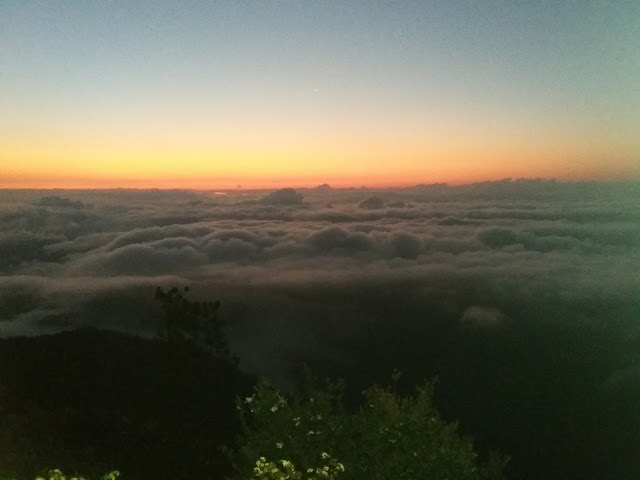 My first captured photo of Sea of clouds