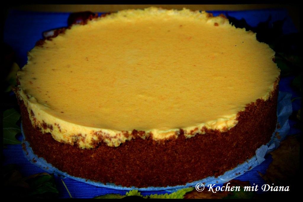 Kürbis-Orangen Cheesecake