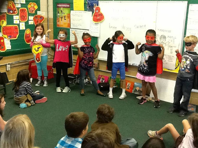 Students as the Secret Stories Superhero Vowels®