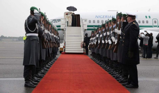 President Buhari departs Germany, arrives in Abuja (photos)