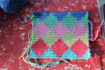 Técnica tapesky o jacquard en crochet
