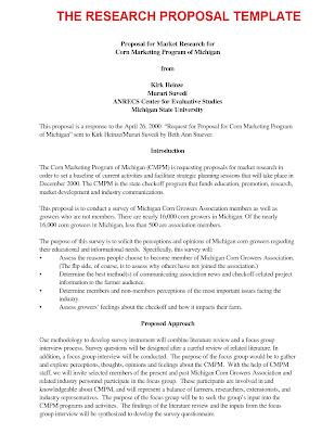 research proposal biology