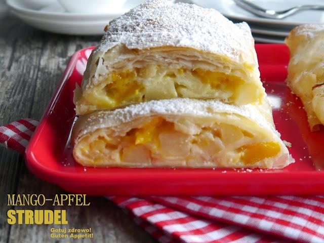 Strudel z ciasta filo z jabłkami i mango - Czytaj więcej »