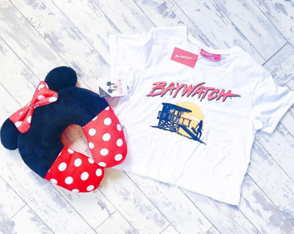 Minnie Mouse Travel Pillow Baywatch Tshirt