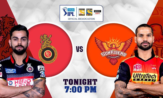 Royal Challengers Bangalore and SunRisers Hyderabad clash in the VIVO IPL FINAL