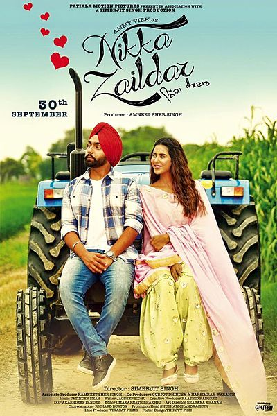 full cast and crew of Punjabi movie Nikka Zaildar 2016 wiki, Ammy Virk, Sonam Bajwa, Gulshan Grover Nikka Zaildar story, release date, Actress name poster, trailer, Photos, Wallapper