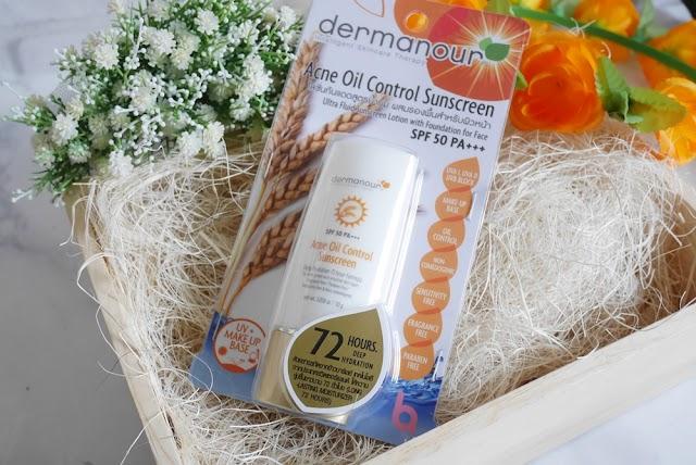 :: รีวิวกันแดดสำหรับคนเป็นสิว! Dermanour Acne Oil Control Sunscreen ::