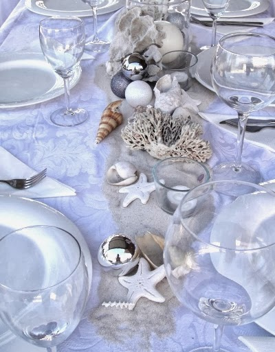 beach Christmas table