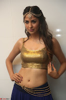 Malvika Raaj in Golden Choli and Skirt at Jayadev Pre Release Function 2017 ~  Exclusive 043.JPG