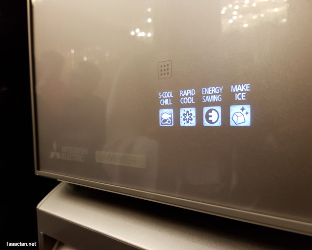 Cool LED control panel which only appears when we swipe our fingers on the surface