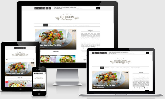 Food Blog Responsive Blogger Templates