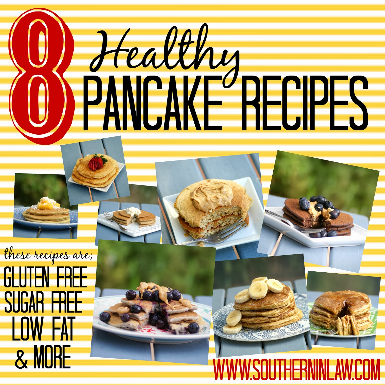 Healthy Pancake Recipes - Gluten Free, Sugar Free, Low Fat, Vegan, Clean Eating Friendly