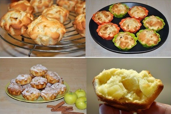 Juicy Apple Muffins Recipe.