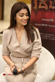 Actress Shriya Saran Stills in Stylish Dress at Gautamiputra Satakarni Team Press Meet  0100.JPG