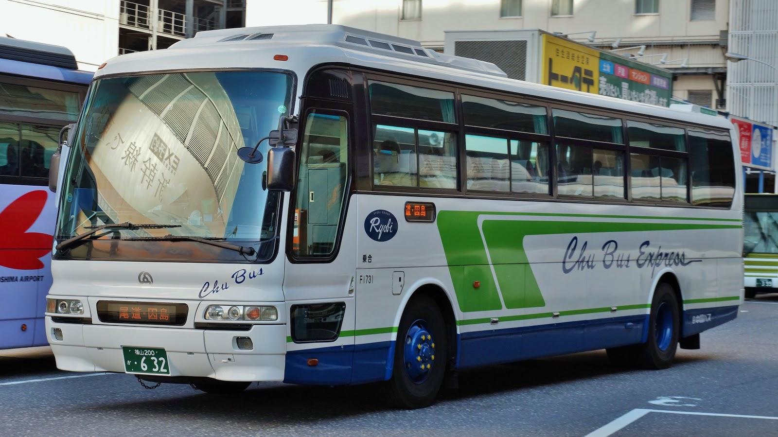 広島のバス: 中国バス 福山200か...