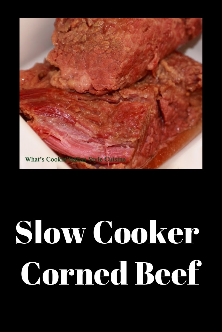 This is a cooked sliced brisket called corned beef made for a St Patrick's Day Dinner celebration