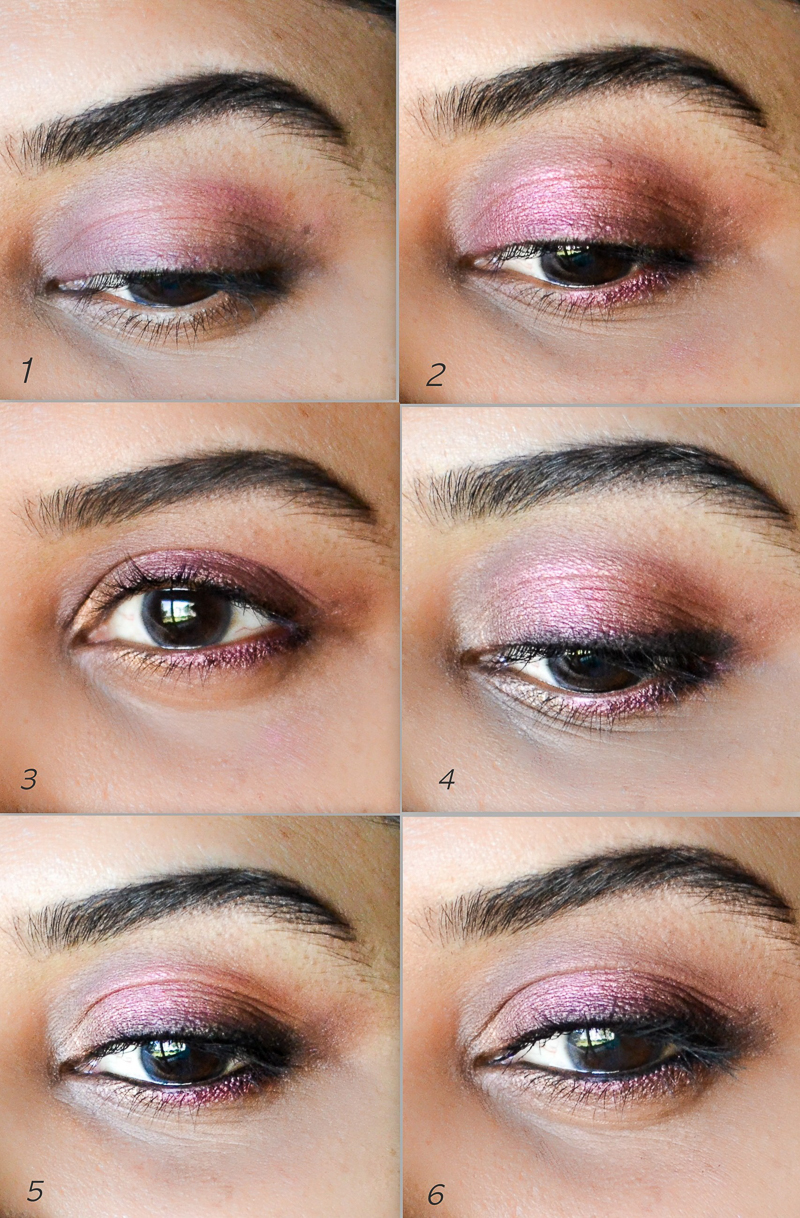 Easy Fall Winter Makeup Tutorial Steps - Cranberry Eyeshadow - Fuchsia Pink Lips