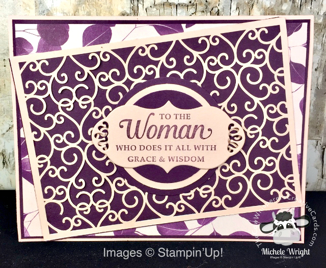 Card, Strong and Beautiful, Mother's Day, Beautifully Detailed Laser Cut