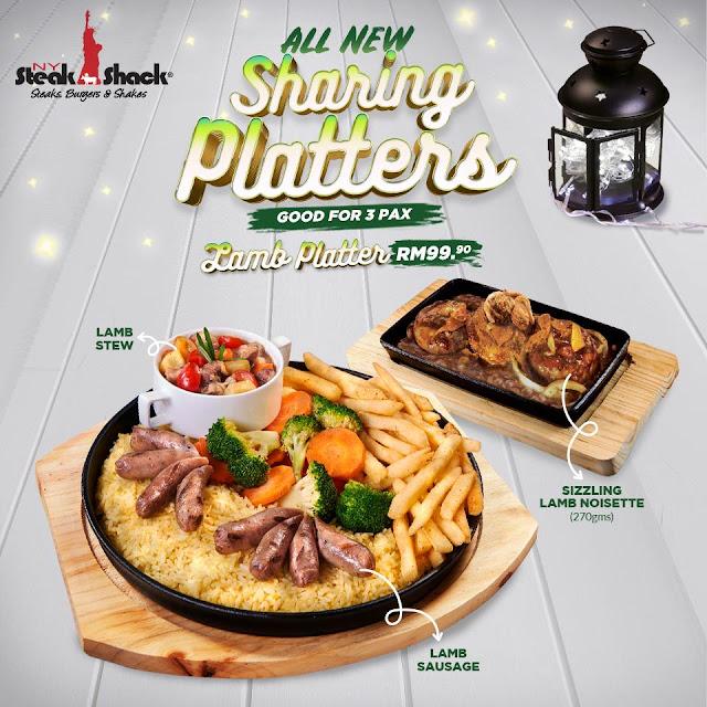 Lamb Platter NY Steak Shack Festive Season New Menu
