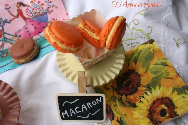 Macarons de fruta de la pasión y mascarpone