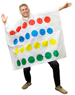Twister Game Poncho Adults