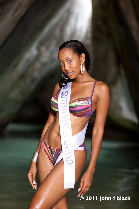 Miss British Virgin Islands 2010/2011 Sheroma Hodge - 26-year-old Sheroma stands 5'11'' and will represent BVI in Miss Universe 2011 pageant
