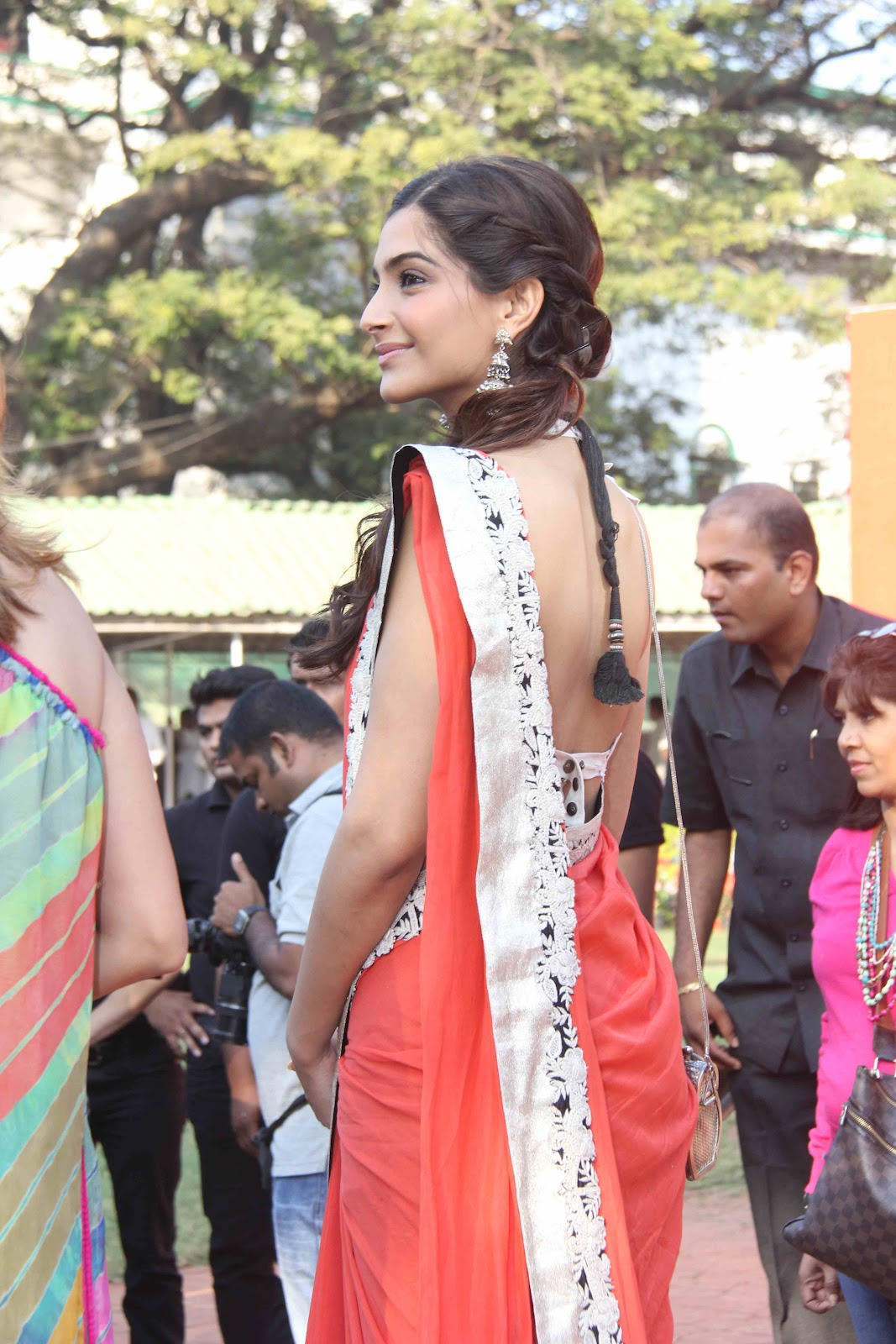 Sonam Kapoor Hot Saree Stills  Telugu Mp3 Songs-2037