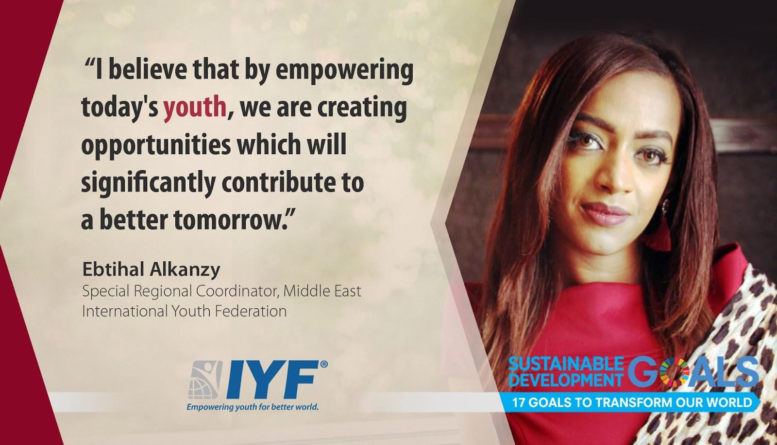 Ebtihal Alkanzy, IYF Special Regional Coordinator