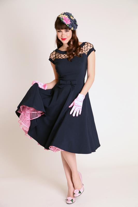Fashion World Palace: Alika Circle Navy Pin Up Dress ...