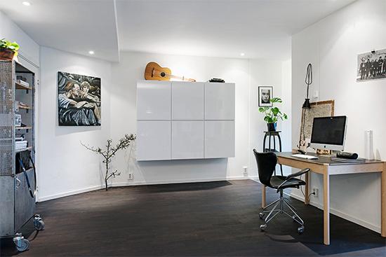 home office, corredor, escritorio, decoração, decor, mesa de trabalho