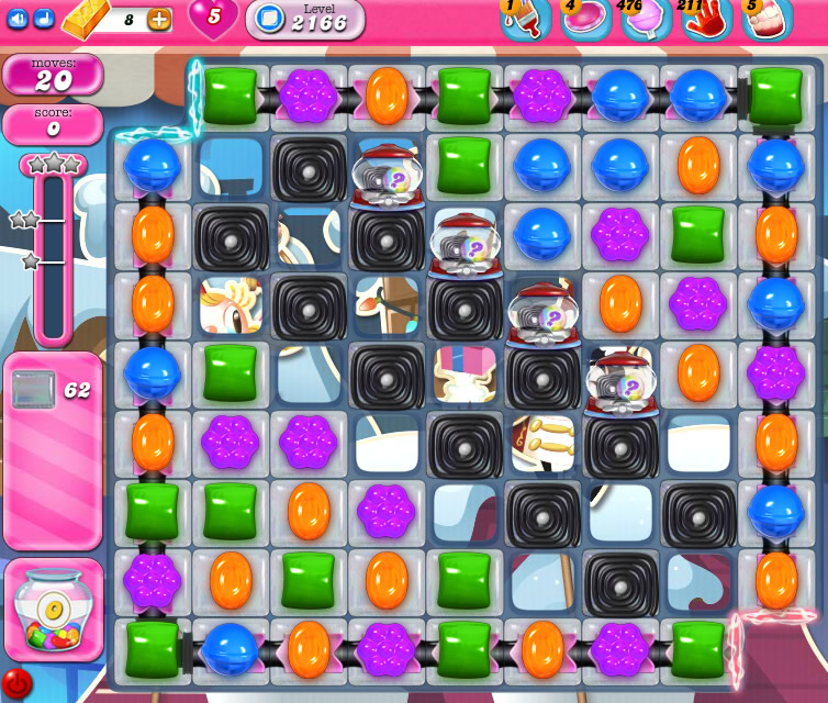 Candy Crush Saga level 2166